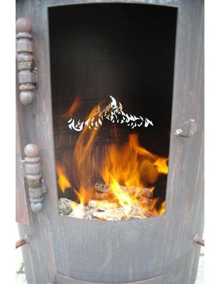 Feuersäulen Stehtischofen - beheizbarer Stehtisch - Partytisch für den Garten  exklusiver Stehtischofen für besondere Ankässe,