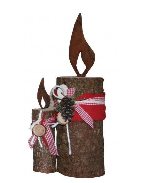 Weihnachtsdeko Rostflamme 25 cm - Edelrost Flamme  Flamme aus Metall Mit Dorn zum Einschlagen Höhe ohne Dorn 25 cm