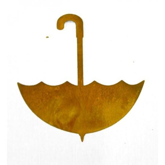 Bastelideen mit Metall und Rost Edelrost Schirmchen zum Hängen 10 x 10 cm kleine Deko Schirmchen zum Aufhängen oder Einarbeiten