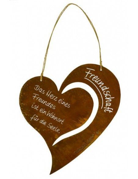 Rostschilder Rostschild Herz Christine - Freundschaft Das Herz eines Freundes, ist ein Wohnort für die Seele  Rostschild in Her