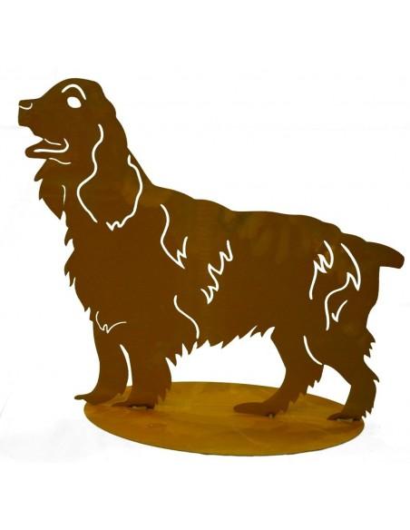 Deko Hunde Cocker Spaniel - Dekofigur Hund, Breite 50 cm Dekofigur Cocker Spaniel als Gartendeko Hund aus Metall Höhe: 45 cm Bre