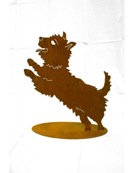 Tierfigur kleiner Hund auf Platte