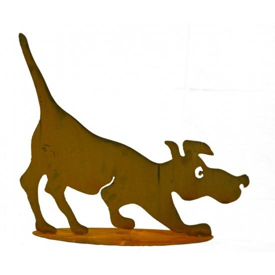 """Deko Hund """"Schnuffi"""" - Gartendeko aus Edelrost"""