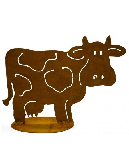 Rost Deko Kuh - Milka - 35 x 50 cm Kühe und Kälber Große lustige Kuh als fröhliche Deko