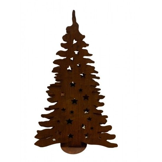 XXL Bäume ab 120 cm Doppelter Christbaum mit Zwischenböden für Teelichter 120 cm - Metall  Metall Weihnachtsbaum für echte Kerz