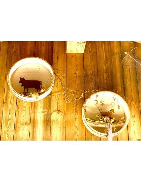 Allgäu Deko Rost Kalb Mini15 x 20 cm Höhe: 15 cm Breite: 20 cm mit Schleife Unser Rostdeko Mini Kälbchen ist eine aussgefalle
