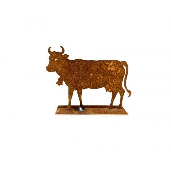 Allgäu Deko Deko Kuh Mini 12 cm lang niedliche Deko kuh aus Metall für deine Tischdeko im Alpenstil. Allgäu Deko mit Kühen ist