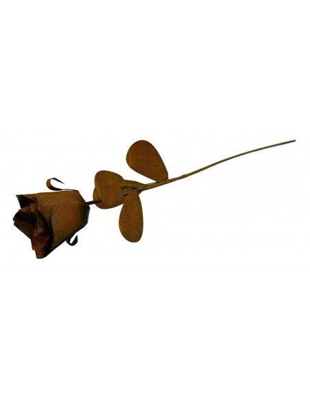 Liebesbeweise und Valentinstag Rose Gartenstecker - 45 cm hoch Produktdetails:  Voll blühende Rose mit 4 Blätter Länge 45 cm
