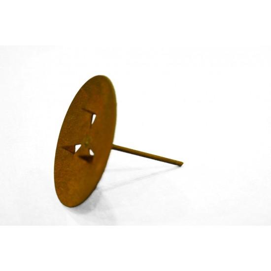 Kerzenteller Ø 6,5 cm ideal als Adventskranz Kerzenhalter Metall Kerzenteller