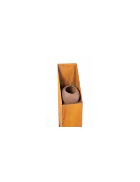 Feuersäulen Schmale Feuersäule mit Brennbehälter - Höhe 150 cm  Höhe 150 cm Breite 12x12 cm