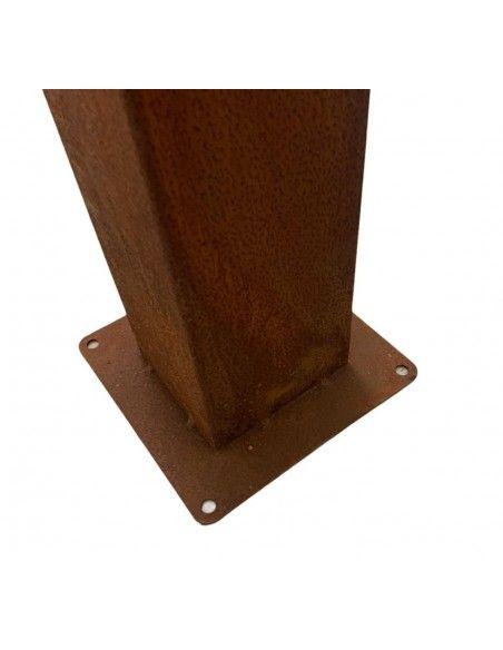 Feuersäulen Schmale Feuersäule mit Brennbehälter - Höhe 150 cm  Du kannst die Säule mit Steinen befüllen. Oben ist ein Brennbeh