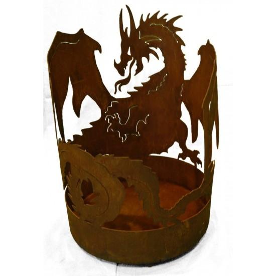 Motiv Feuerkörbe Drachen Feuerschale groß - Höhe 75 cm Die große Drachen Feuerschale für schöne Abendstunden mit Feuerschein  Hö