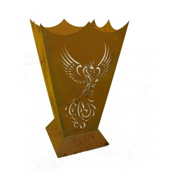 Hexen, Elfen, Drachen und Mystisches Feuerkorb Phönix 71 cm hoch 40 x  40 cm Phoenix Feuerstelle Ein Feuerkorb, der seinesgleich