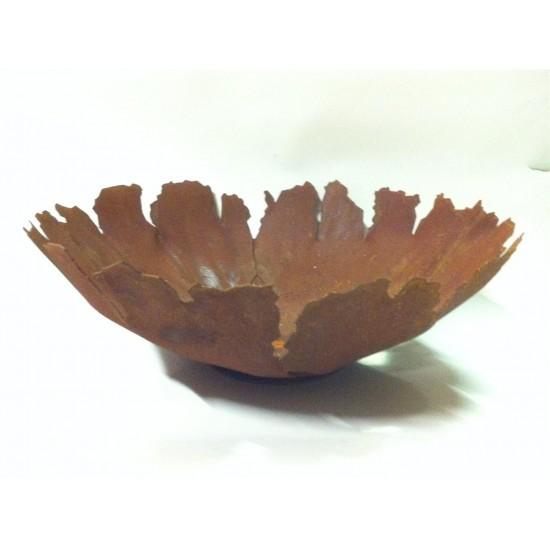 Deko Pflanzschale mit Rissen aus Edelrost- Blumenschale rustikal