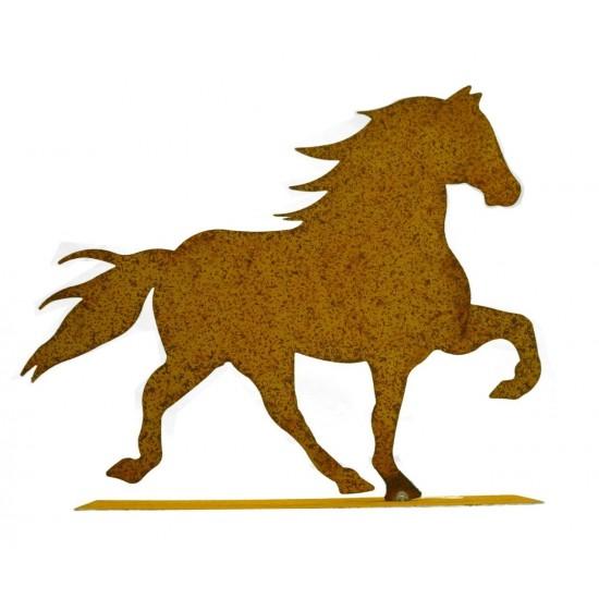 Pferde + Esel Edelrost Pferd (Friese) klein 30 cm lang klenes Edel-Rost Pferd als Tischdeko oder Fensterbank geeignet 30 cm brei