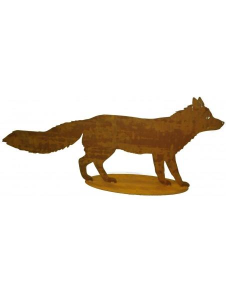 Edelrost Deko Fuchs lebensgroß - 100 cm lang Fuchs und Wolf Dieser Fuchs ist eine