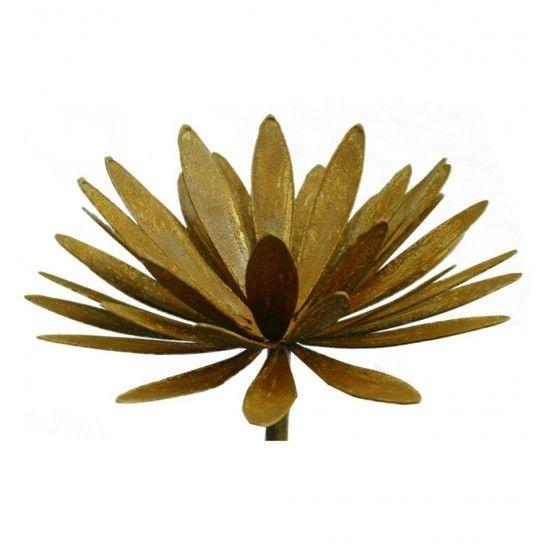 sonstige Blumen Chrysantheme Ø 32cm auf 100 cm Stab Chrysantheme zum Aufbiegen Ø aufgebogen bis 32 cm Höhe 15cm mit Stab 100