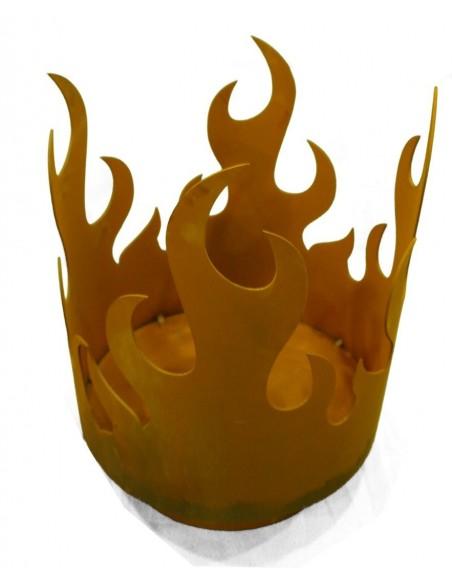 runde Feuerschalen Edelrost Feuerschale - Flammenkorb, Höhe 45 cm Einfacher Flammenkorb für Holzfeuer geeignet Höhe: 45 cm Dur