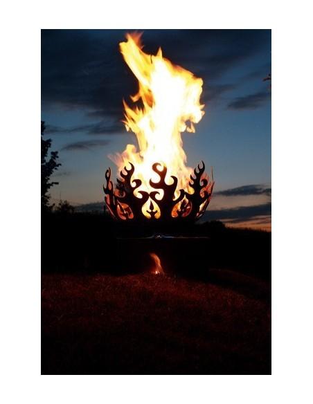 runde Feuerschalen Feuerschale - Flame - Ø 50 cm Edelrost Feuerkorb stabil und robust für Holzfeuer geeignet Die Feuerschale kan