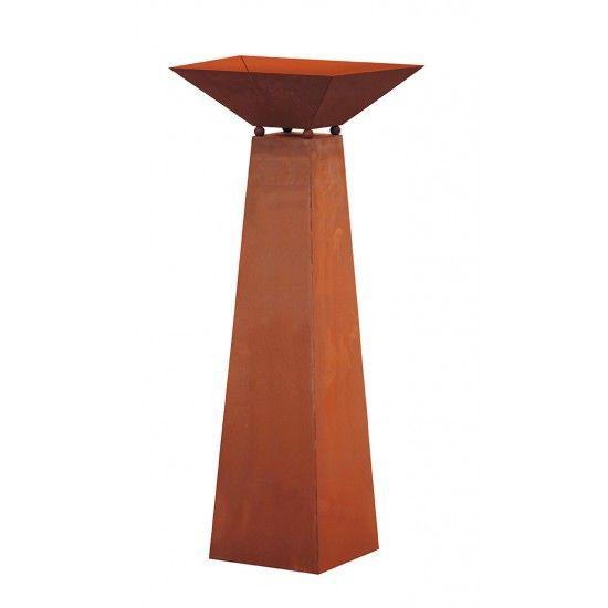 Säule Trapez, inkl. Schale, Höhe 96,5 cm