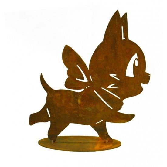Frühling / Ostern Edelrost Katze Minka 16 cm hoch unser Minikätzchen mit Schleife aus Edelrost - einfach Süß! Höhe 16 cm Breite