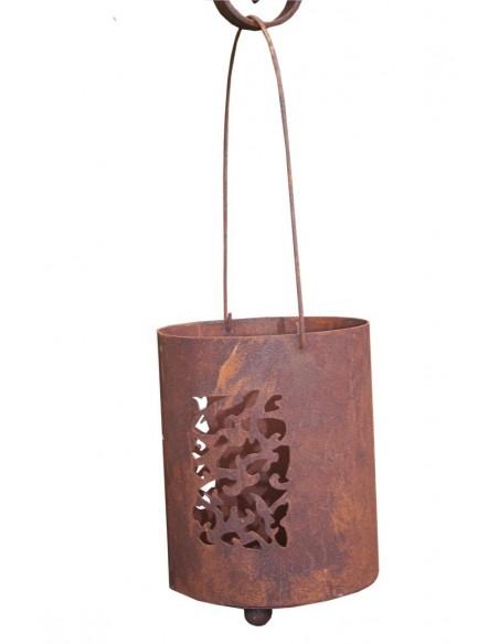 Laterne Steffi - Mosaik - Edelrost Laterne zum Hängen