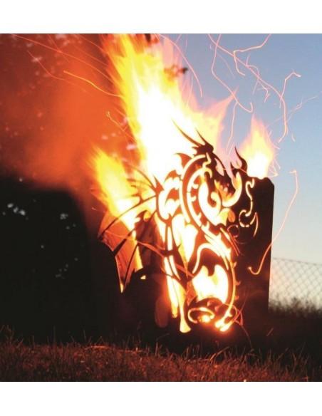 Motiv Feuerkörbe Edelrost Feuerkorb - Drache rechteckig - Höhe 65 cm Edelrost Feuerkorb im Fantasy-Design Dieser Feuerkorb besi