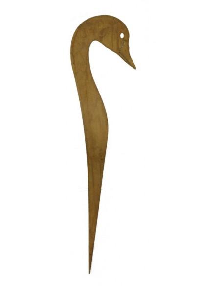 Gartenteich Schwan Stecker - Spieß Höhe 60 cm Breite 15 cm Schwankopf zum einstecken - ideal auch als Teichdeko