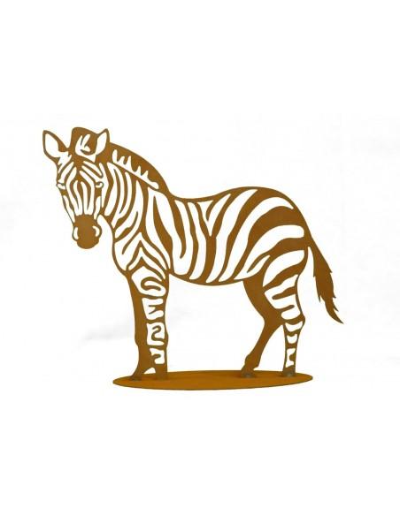 Dekofigur Zebra Gartenmetall