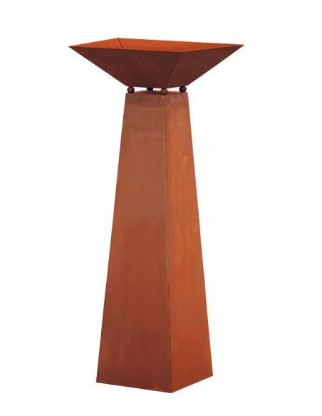 Säule Trapez - inkl. Schale - groß - Höhe 116,5 cm