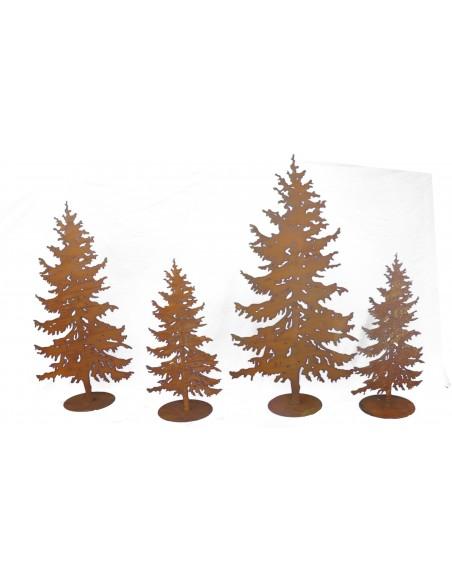XXL Bäume ab 120 cm Metall Tannenbaum 175 hoch - realistischer Deko Baum  Tanne 175 hoch mit Steckverbindung (Rohr Hinten) bi