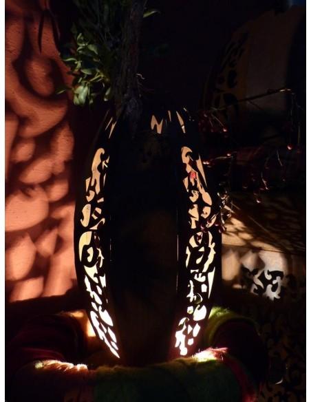 Deko Leuchte Oval -Mosaik- in Rostoptik
