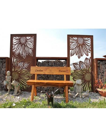 Blumen Sichtschutzwände Paravent Gerbera offen 200 cm hoch    ausgefallener 2 m hoher Sichtschutz mit Gerbera Blumenmotiv Hö