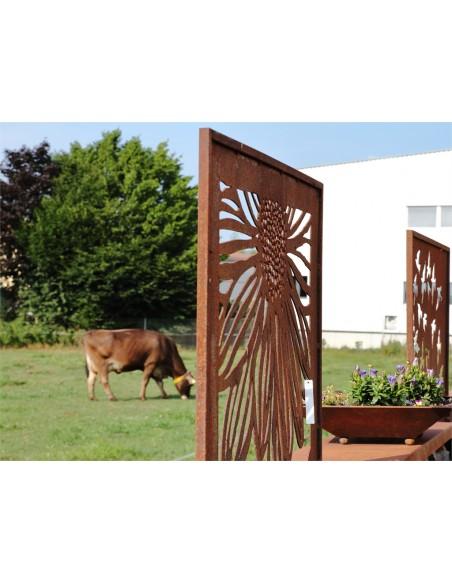 Sichtschutzwände und Paravents Sichtschutzwand Motiv Blume Gerbera geschlossen 200 cm hoch    Ausgefallener 2 m hoher Sichtsc
