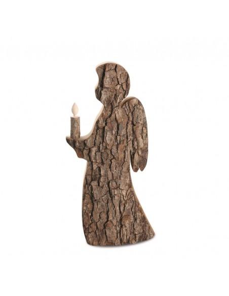 Rindenengel - Holzengel mit Rinde Rindenengel mit Holzkerze H: 26 cm x B: 12,5 cm (ca. Angabe)