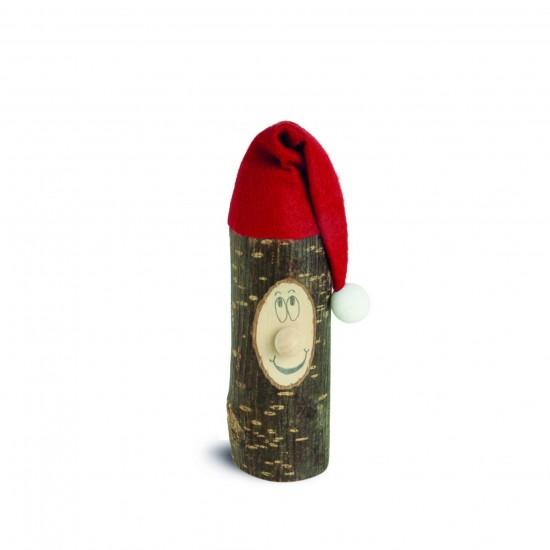 Holzwochtel mit Zipfelmütze rot