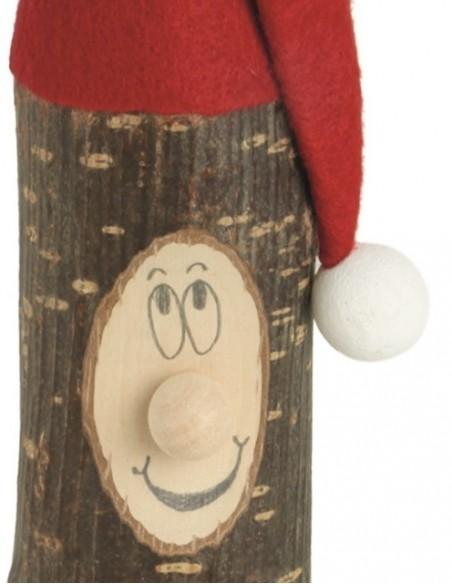 lustiger Weihnachtswichtel aus Holzstamm