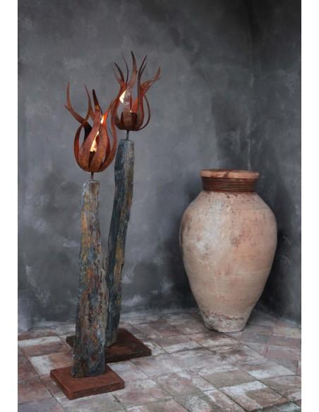 """Gartenfackeln Edelstahl Feuerblume - Fiamma - mit Hülse - klein Ø 40 cm -  Feuerblume """"Fiamma"""" mit einer Hülse, ideal zum Einar"""