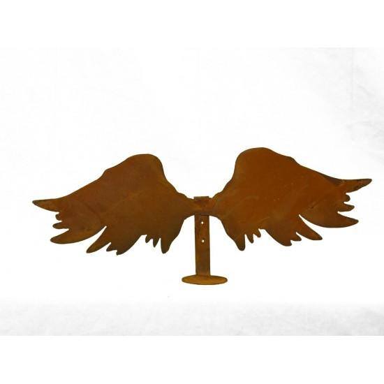 Engelsflügel mit Wandhalterung für teelicht