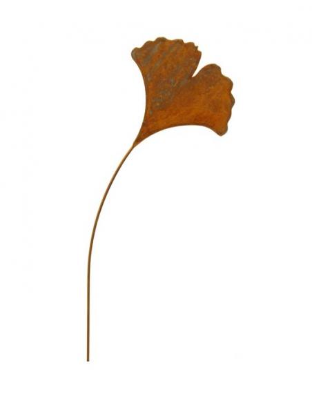 Gartenstecker Ginkgoblatt als Gartenstecker -  Ø 25 x Höhe 110 cm Ginkgoblatt als Gartenstecker mit leicht gebogenem Stab.  Hö