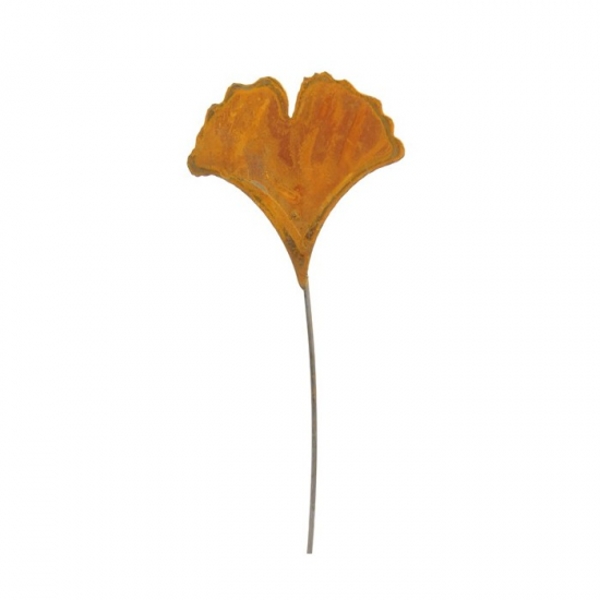 Start Ginkgoblatt mit aufrechtem Blatt - Ø 12 x 60 cm Höhe  Höhe 60 cm Breite 12 cm