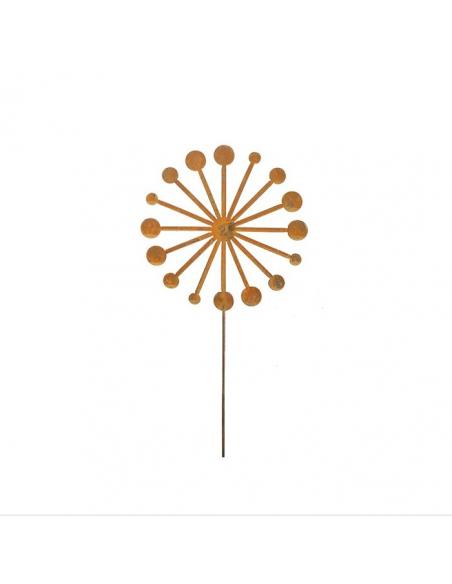 Start Pusteblume (flach) als Gartenstecker - Ø 30 x 120 cm Höhe