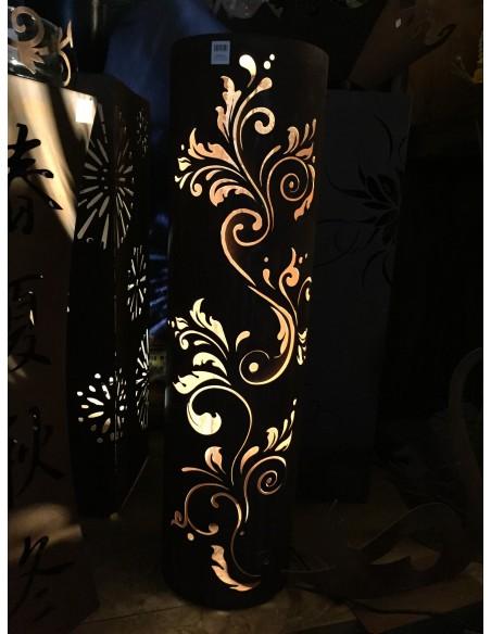 runde Rostsäulen runde Rost Säule Barock Höhe 100 cm, Ø 27cm filigranes Muster Produktdetails Rostäule mit Filigranem Barock Mus