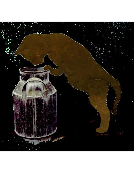 Deko Katzen und Mäuse Mini Deko Katze zum Einhängen in Topf, Gießkanne etc. - 26 cm - Gr. 1  Diese kleine Deko Katze ist ein ne