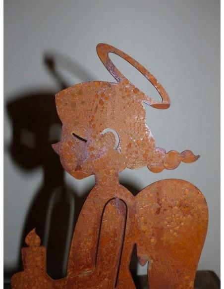 Engelchen Figur mit Heiligenschein und Zöpchen