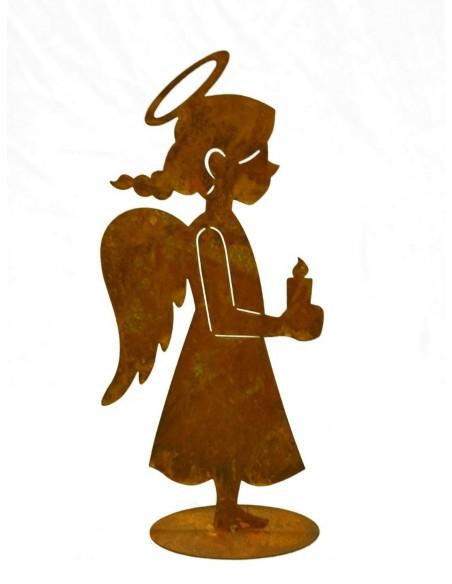 Engelchen mit Kerze in der Hand - Dekofigur