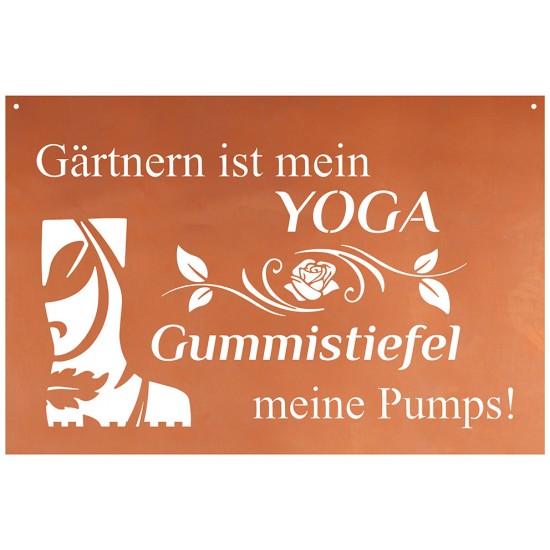 Gartnern Ist Mein Yoga Gummistiefel Meine Pumps Schoner Spruch Garten Blechschild 60 Cm Breit