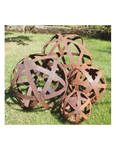Blechstreifenkugeln Deko Kugel Ø 20 cm aus Blechstreifen  Ein Klassiker der Gartendeko Rost: Seit Jahren sind unsere Blechstrei
