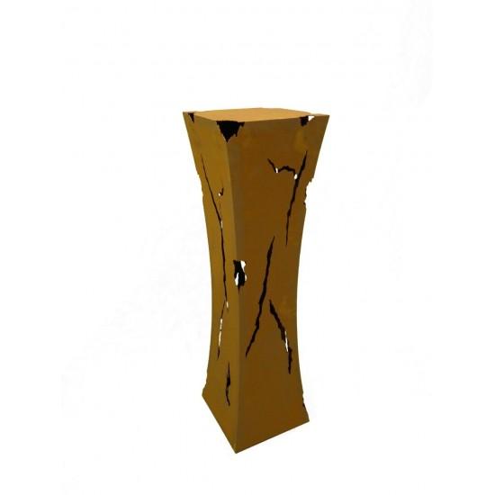 taillierte Säulen Rost Säule Mystik, mit Feuerbehälter, Höhe 110 cm Höhe: 110 cm Breite: 30 x 30 cm Oben ist ein Loch für den Fe