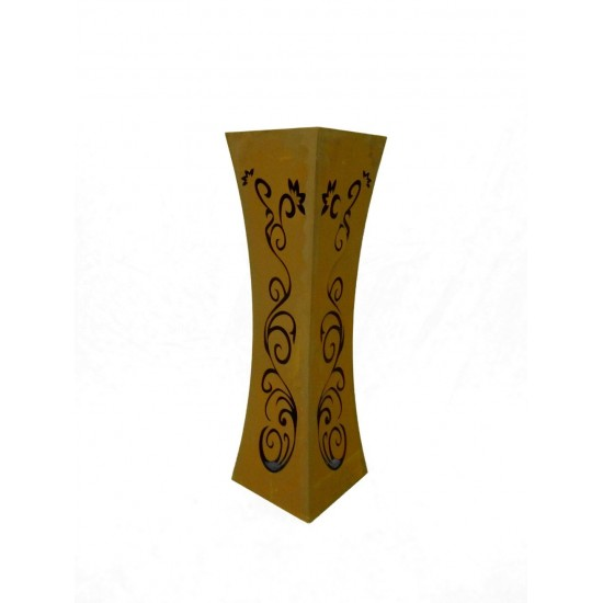 Säule Tailiert Ornament Edelrost 100 cm